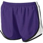 Sport-Tek Ladies Cadence Short M Purple/ White/ Black