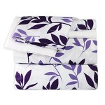Dor Extreme Super Soft Luxury Floral Bed Sheet Set in 9 Prints, 6 Piece, Queen, Purple Floral