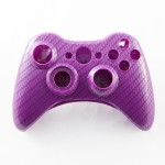 Purple Carbon Fiber Custom Controller Shell for XBOX 360