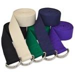 YogaAccessories (TM) 10′ D-Ring Buckle Cotton Yoga Strap – Purple
