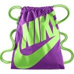 Nike Heritage Gym Sack Vivid Purple/Green Strike Size One Size