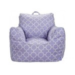 Lavender Purple Bean Bag Chair with Removable Cover