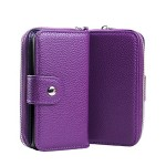 ZARUS Case For Galaxy S5 [Coins Wallet] For Samsung Galaxy S5 [Magnet Zip Case] PU Leather Flip Protective Cover with Magnet Case, [TPU BACK CASE] Rubber inside Double Case (Purple)