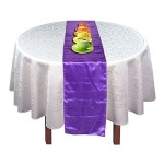 Gacube Purple Satin Table Runner Wedding Party Banquet Supply Decor 12×108″""""