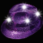LED Sequin Fedora – Purple