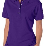 Jerzees Ladies' Spotshield Jersey Polo Shirt, Deep Purple, Large