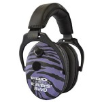 Pro Ears – ReVO – Electronic Hearing Protection and Amplification – NRR 25 – Youth and Women Ear Muffs  – Purple Zebra