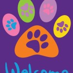 Toland Home Garden Welcome Paws Purple 28 x 40-Inch Decorative USA-Produced Double-Sided House Flag