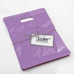 Packstash 16 x 18 x 4-Inch LILAC PURPLE Retail Merchandise Plastic Shopping Bags, L-Type (100 QTY)