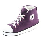 Gohom Women's Fun Soft Chinese Indoor Slipper Boots House Dark Purple&White US 8