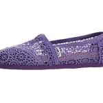 TOMS Women's Classics Crochet Shoe Purple Size 9 B(M) US