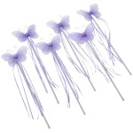 6 Purple Fairy Butterfly Wands Costume Dress Up Party Packages for Girls Toddlers and Kids