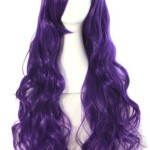 MapofBeauty 32″ 80cm Long Hair Spiral Curly Cosplay Costume Wig (Dark Purple)