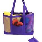 Getagadget Huge See-Thru Mesh Beach Tote Bag One Size Purple