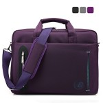 CoolBell®15.6 inch Laptop Bag With Strap Messenger Shoulder Handle bag Briefcase Nylon Cloth Waterproof Multi-compartment For iPad Pro/Macbook/Asus/Lenovo for Men/ Women/Business(Purple)