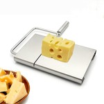 IBEET Cheese Butter Slicer Stainless Steel Cutting Board with Replacement Wire Set- Professional Kitchen Aid
