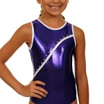 TW Big Girl's Leotard Bree | Purple Rhinestone-Child: 10-12