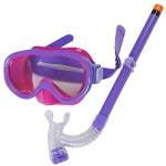 Purple New Cute Kid Child Swimming Scuba Anti Fog Goggles Mask Snorkel Snorkeling Suit