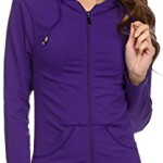 Sg Lightweight Seamless Hooded Pull-up Active Yoga Fitness Jacket with Pockets (One Size, Purple)