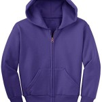 Joe's USA(tm) – Youth Full-Zip Hooded Sweatshirt-Purple-L