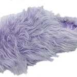 Making Waves Womens Purple Super Hairy Fuzzy Slippers (X-Large 9.5-10.5)