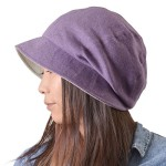 Casualbox Womens Sun Hat Organic Cotton Reversible Japanese Design Purple