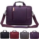 BRINCH(TM) 17.3 inch New Soft Nylon Waterproof Laptop Computer Case Cover Sleeve Shoulder Strap Bag with Side Pockets Handles and Detachable for Laptop / Notebook / NetBook / Chromebook,Colour Purple