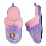 Disney Toddler & Girls Sofia The First Purple & Pink Slide On Slippers Scuffs