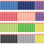 Alwayswish 100pcs 10 Different Color 7.2cm Refill Bullet Darts for Nerf N-strike Elite Series Blasters Kid Toy Gun Red, Purple, Litte Green, Black, Yellow, Green, Little Blue, Dark Blue, Grey, Orange