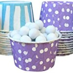 Outside the Box Papers Under the Sea Theme Polka Dot and Striped Candy/Nut Cups 48 Pack Purple, Blue, White