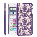 iPhone 6s/6s Plus, Towallmark Hard Carved Translucent Phone Shell (iPhone 6S (4.7inch), Purple)