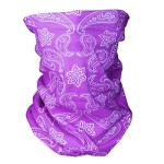 Triple9 Automotive Gear Balaclavas Seamless Face Mask Bandanas (Large paisley- Light Purple)