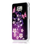 (Not fit for Sprint, AT&T, T-mobile Version)S2 Case, Galaxy S2 Case – YOKIRIN Fashion Style Colorful Painted Purple Flower PC Case Hard Cover for Samsung Galaxy S2 i9100 Galaxy S 2 II Plus I9105 International Version (Purple Flower)