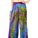 Orient Trail Women's Tie-dye Wide Leg Pajama Dance Yoga Pants Crab Purple