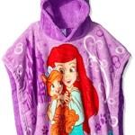 Disney Little Girls' Palace Pets Ariel and Treasure Plush Character Poncho, Purple, One Size