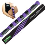 The Elite Leg Roller Stick for Runners – Fast Muscle Relief from Sore and Tight Leg Muscles and Cramping – Purple