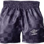 UMBRO Big Boys' Checkerboard Short, Purple, Medium