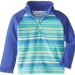 Columbia Little Girls' Toddler Glacial II Print Half Zip Fleece Jacket, Light Grape Stripe/Light Grape, 4T