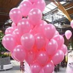 Aiernuo 100 pcs Pink Balloons 12 inch Premium Latex Balloons Plain Color Pink