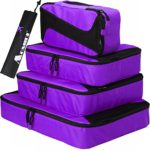 Aomidi 4 Set Packing Cubes – Travel Luggage Packing Organizers with Laundry Bag (Purple)