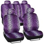 BDK 9p Safari Print Car Seat Covers Purple Leopard