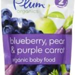 Plum Organics Stage 2 Purees – Blueberry Pear & Purple Carrot – 4 oz – 6 pk