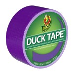 Duck Brand 1265017 Color Duct Tape, Purple, 1.88 Inches x 20 Yards, Single Roll