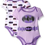 Warner Brothers Baby Batgirl Soft 2 Pack Bodysuit, Purple, 0-3 Months
