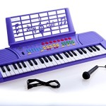 D'Luca Children 49 Keys Electronic Piano Music Keyboard Purple
