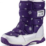 DADAWEN Kid's Boy's Girl's Frosty Winter Boot (Toddler/Little Kid/Big Kid) Purple US Size 8 M Toddler